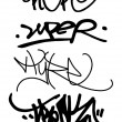 Isolated tags and graffiti set 3 — Stock Photo