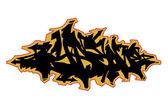 Kolorowy na białym tle streszczenie graffiti 1 — Zdjęcie stockowe