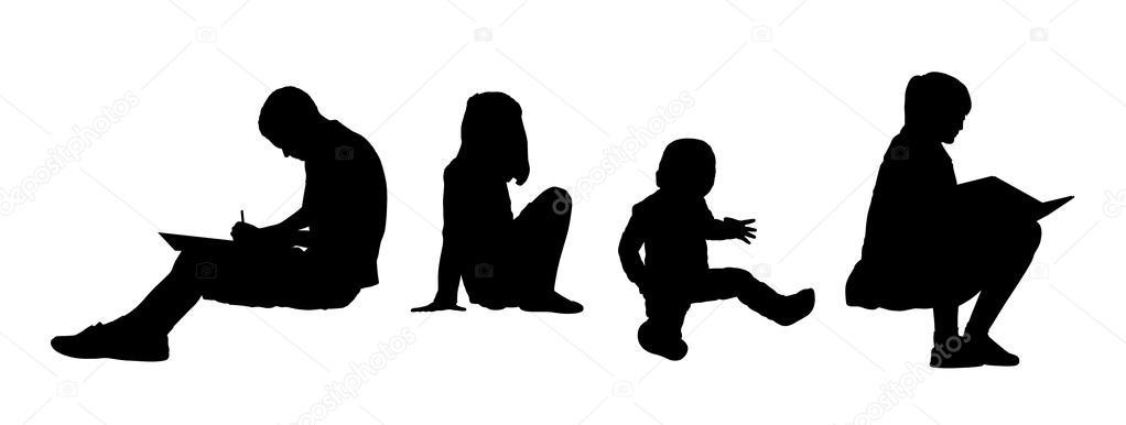 Силуэты сидящих людей