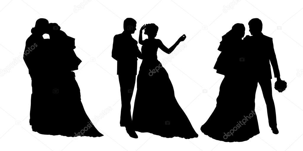 stock photo bride groom silhouette