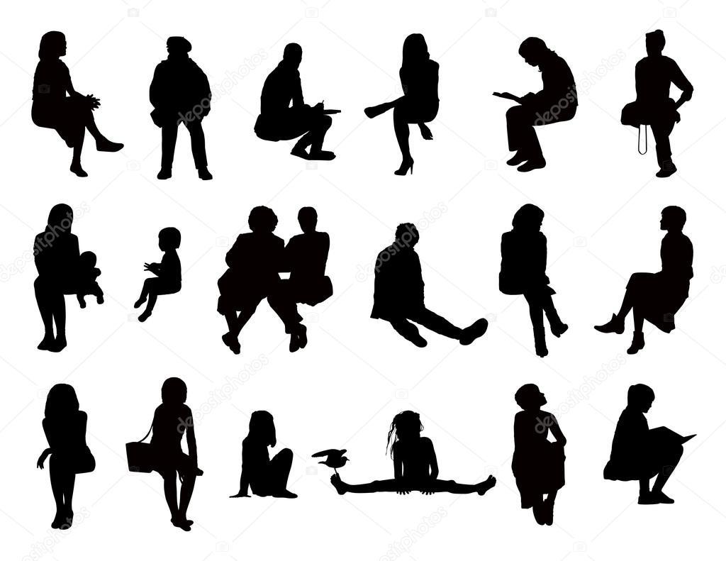 Фотографии сидящих женщин 2 фотография