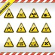 Stock Vector: Danger symbols