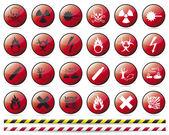Prohibition Danger sign — Stock Vector
