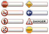 Danger, prohibition sign banner collection — Stock Vector