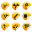 Danger sticker icon — Stock vektor