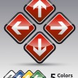 Danger arrow set multicolor — Stock Vector
