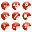 Stock Vector: Danger sticker icon