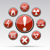 Circle Danger sign collection — Stock Vector
