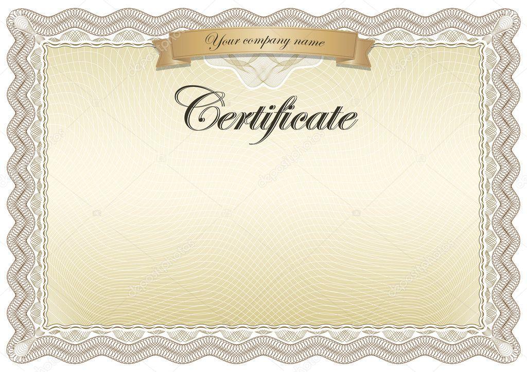 Образец Сертификата Пустой Word