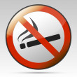 No smoking prohibition sign — Stock Vector
