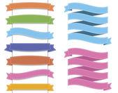 Ribbon set 2 — Stock Vector
