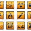 Stock Vector: Danger symbols icon