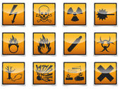 Danger symbols icon — Stock Vector