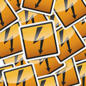 Danger symbols icon — Stock Vector