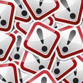 Sticker-danger-symbols — Stock Vector