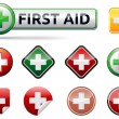First aid icons — Stock Vector