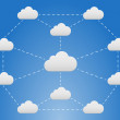 Stock Vector: Cloud network