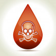 Drop of Blood — Stock Vector