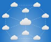 Cloud network — Vecteur