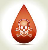 Drop of Blood — Stock Vector
