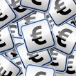 Euro money sign sticker collection — Stockvector