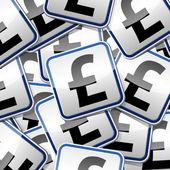 Money-sticker-symbols copy — Stock Vector