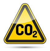 CO2 danger triangle — Stock Vector
