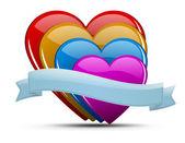 Heart illustration set — Stock Vector