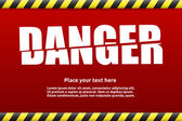 Danger warning sign template for your text — Stock vektor