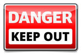 Danger Keep out sign — Stock Vector