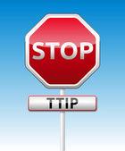 TTIP - Transatlantic Trade and Investment Partnership — Vector de stock