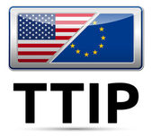 TTIP - Transatlantic Trade and Investment Partnership — Stock Vector