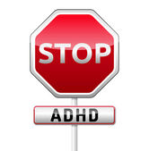 ADHD - Attention deficit hyperactivity disorder - isolated sign  — Stock Vector
