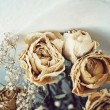 Stock Photo: Dead Roses Bouquet