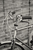 Vintage bike handlebars — Foto Stock