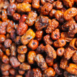 Dried red date stacked in the market place — Stock Photo