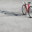 ������, ������: Red bicycle and its shadow