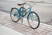 Women's bicycle parked on the street in Toronto — Stock Photo