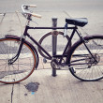 Old Vintage Bicycle — Stock Photo