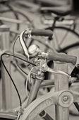 Vintage bike handlebars — Stock Photo