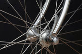 Vintage bicycles front hub — Stock Photo