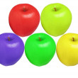 Apples color isolated - Stock Photo