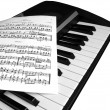 Piano music with notes — Stok fotoğraf