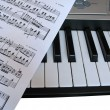 Royalty-Free Stock Photo: Piano music with notes