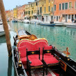Venice: traditional gondola waiting for a romantic ride — Stock Photo #24759537