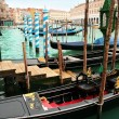 Venice: traditional gondola waiting for a romantic ride — Stock Photo #24759597