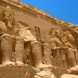 Abu Simbel Temple of King Ramses II, a masterpiece of pharaonic arts and buildings in Old Egypt — Stock Photo #24759763