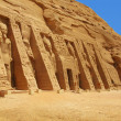 Abu Simbel, Egypt: The magnificent Temple of godess Hathor (it's the second and smaller temple, but exquisite and as amazing as the main temple) — Stock Photo #24759839
