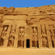 Abu Simbel, Egypt: The magnificent Temple of godess Hathor (it's the second and smaller temple, but exquisite and as amazing as the main temple) — Stock Photo