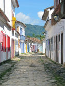 Beautiful town of Paraty, one of the oldest colonial towns in Br — Stock Photo